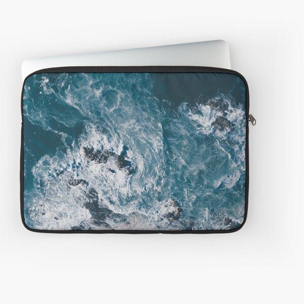 I Love the Sea - written on the sand Laptop Sleeve