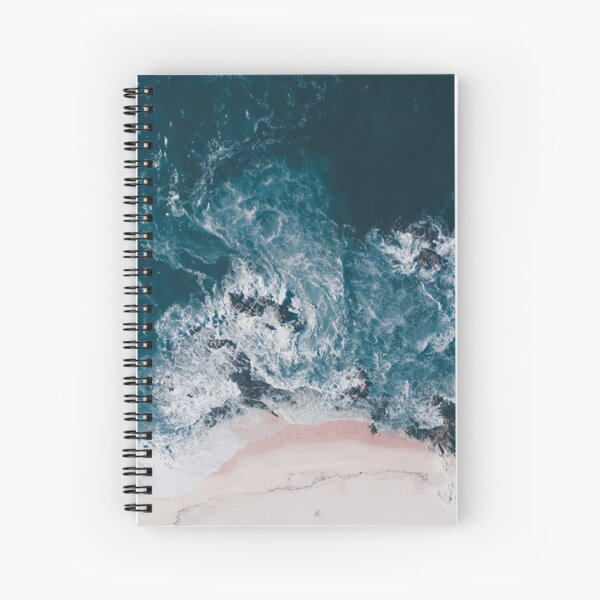 I love the sea - written on the sand Spiral Notebook