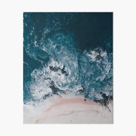 I love the sea - written on the sand Art Board Print