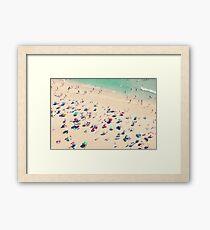 Lámina enmarcada amor de la playa
