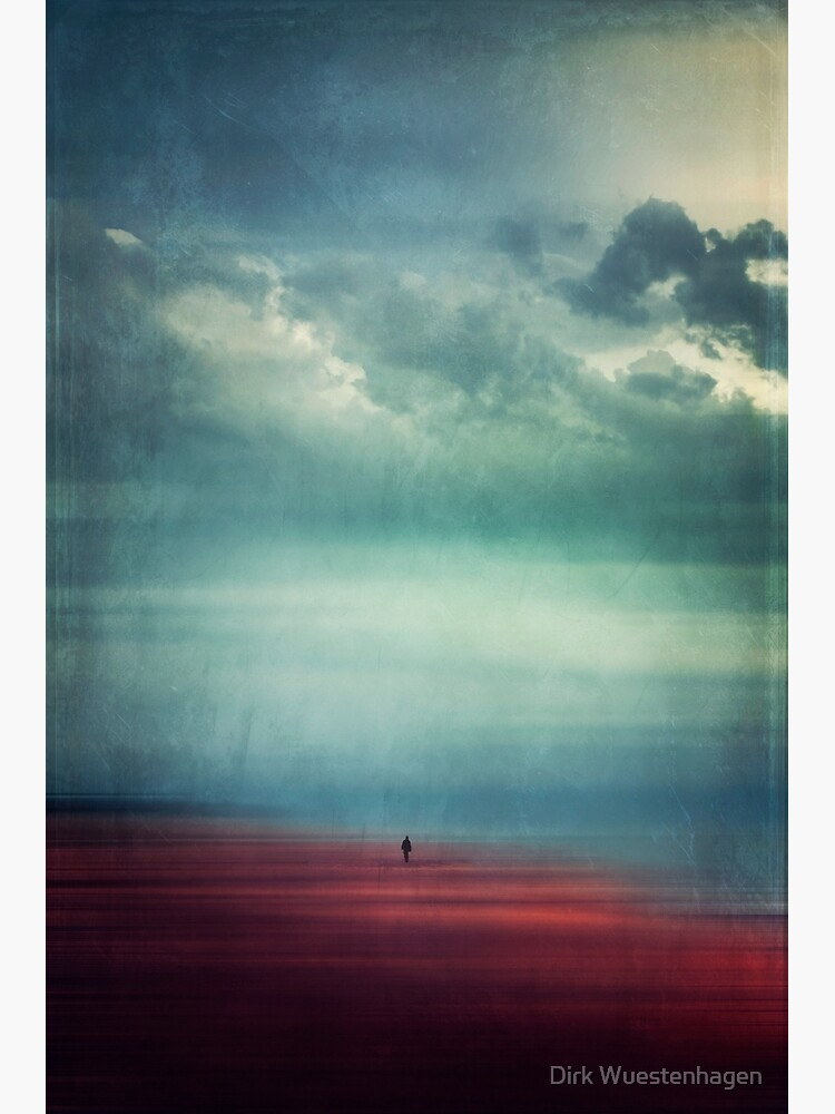 Nothing Matters - Abstract Beach Scene with tiny Figure by DyrkWyst