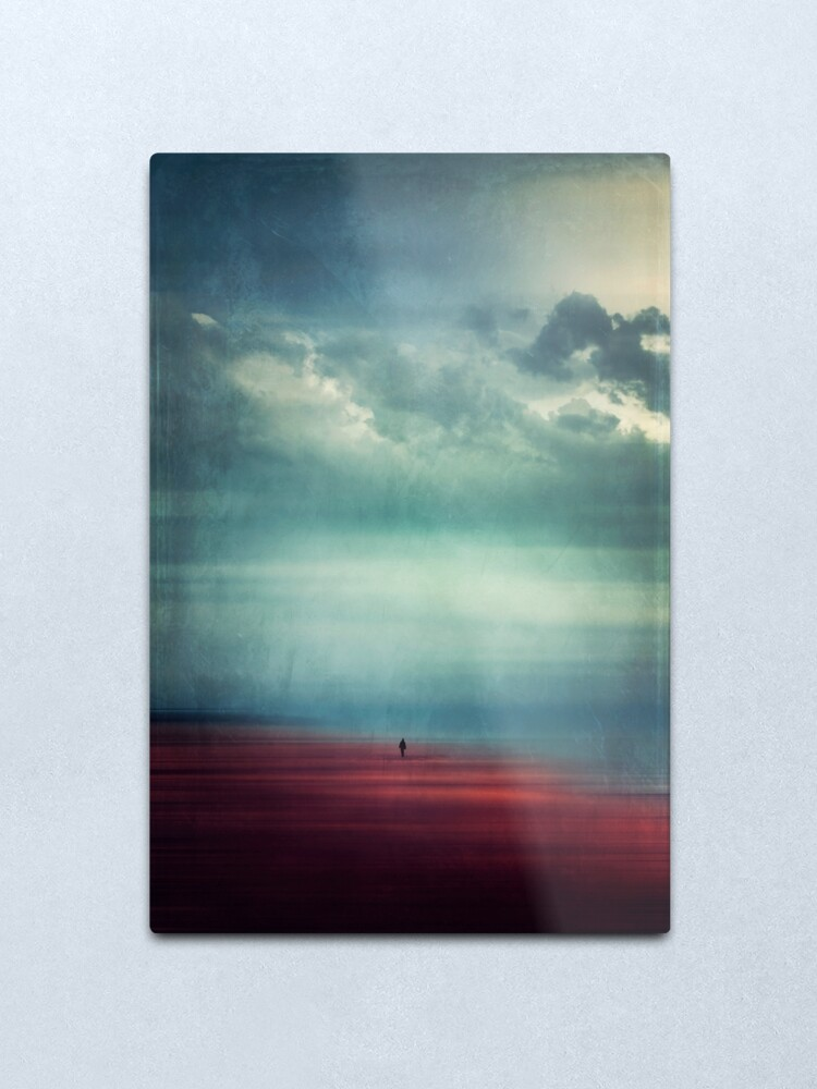 Alternate view of Nothing Matters - Abstract Beach Scene with tiny Figure Metal Print