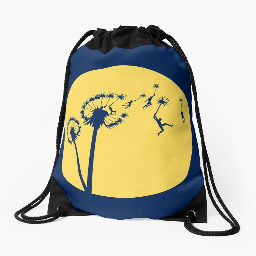 Dandylion Flight - Reversed Circular Drawstring Bag