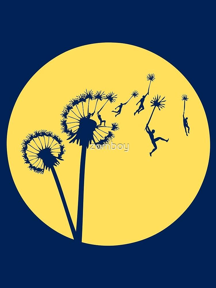 Dandylion Flight - Reversed Circular by zomboy