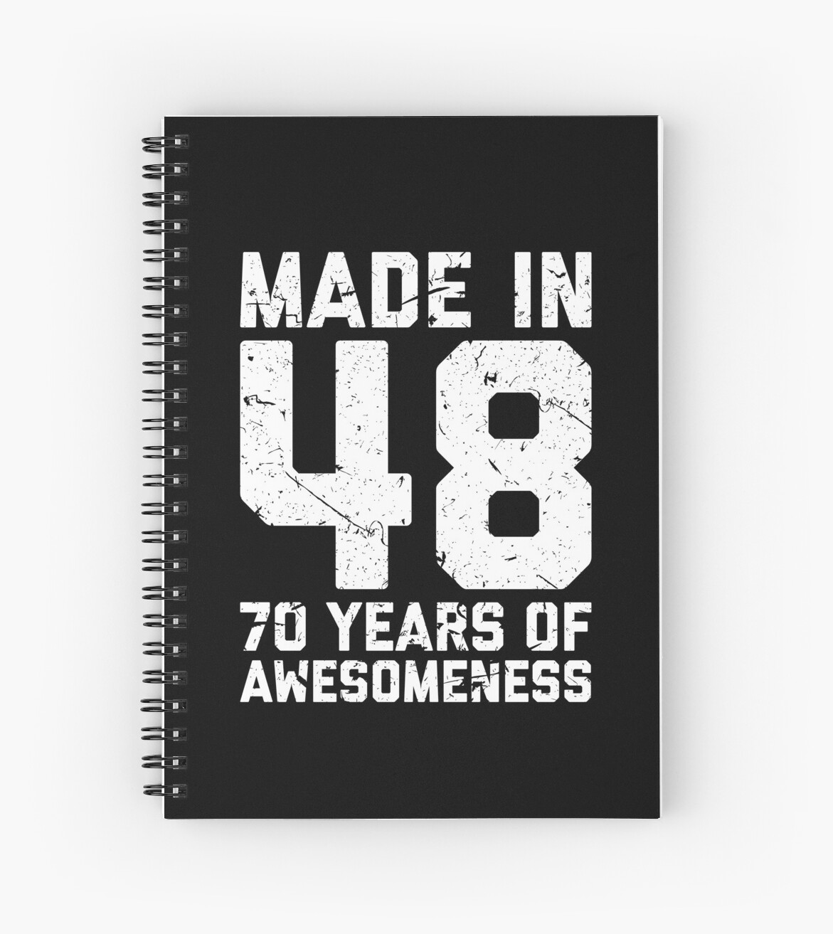 70th Birthday Gift Adult Age 70 Year Old Men Women Spiral Notebook By Matt L