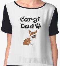 Corgi Dad Funny Love Dog Pet Gift Chiffon Top
