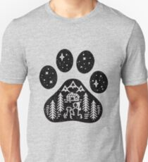Dog paw camping best gift for puppies lover Unisex T-Shirt