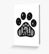 Dog paw camping best gift for puppies lover Greeting Card
