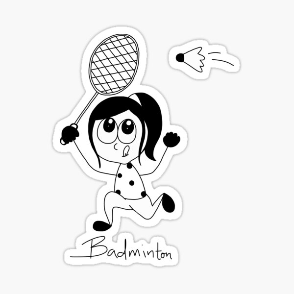 Badminton Sticker