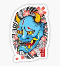 Hanya Demon Mask Sticker