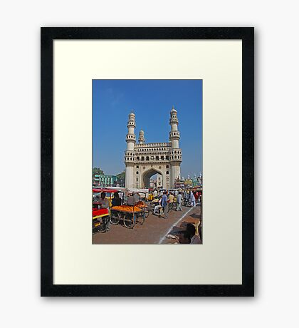 Charminar, Hyderabad, India Framed Print