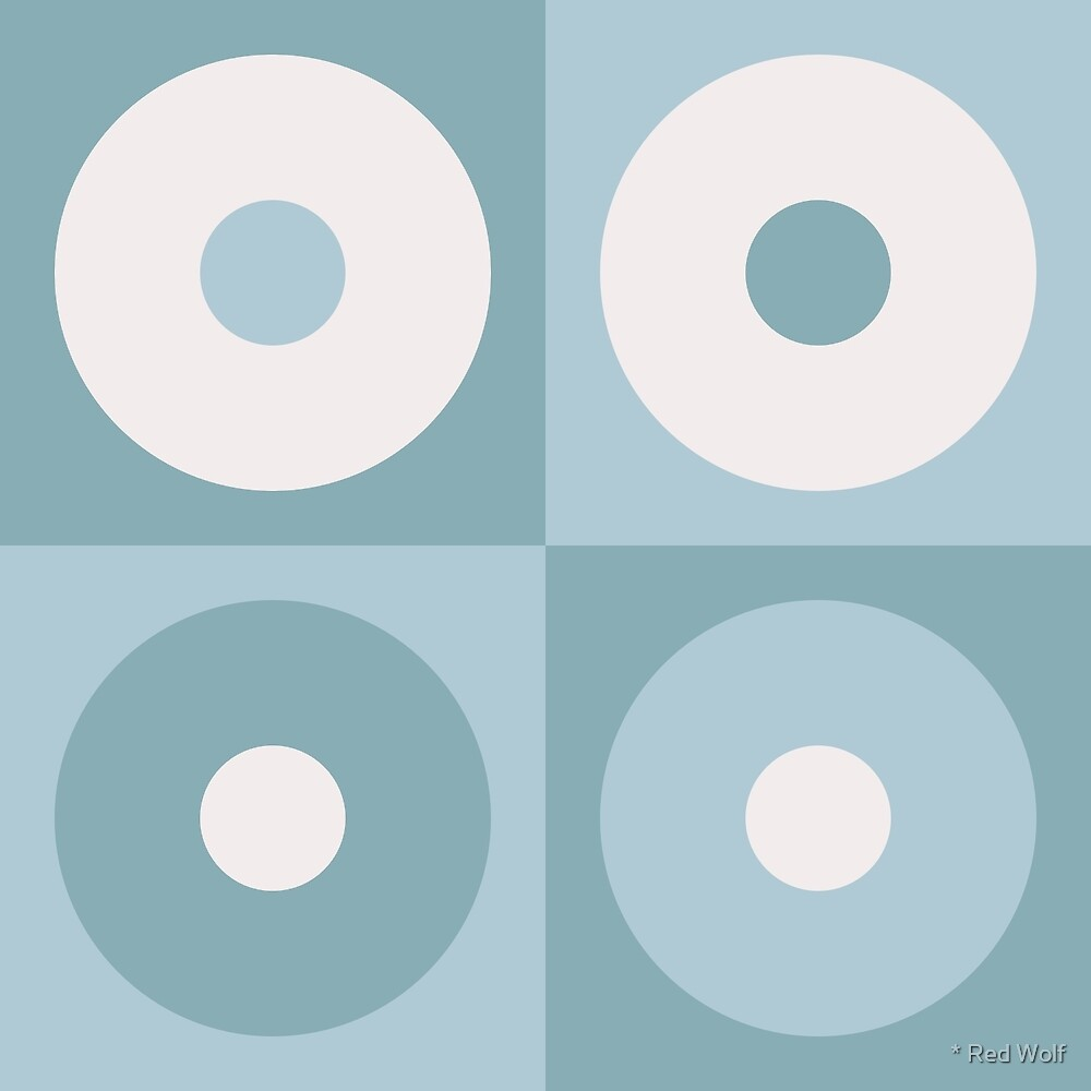 Geometric Pattern: Alternating Circles: Beach by * Red Wolf