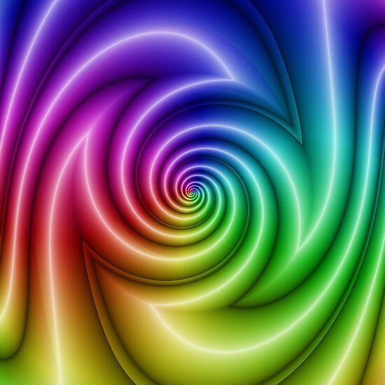 Abstract colorful turbulence