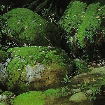 Studio Ghibli Anime Landscape  by pompomcherryy