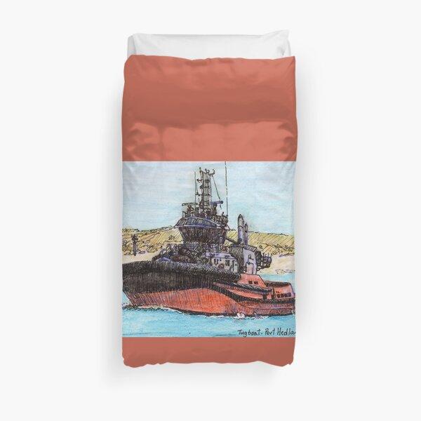 Australian Scene - Tug boat - Port Hedland, WA, aus. Duvet Cover