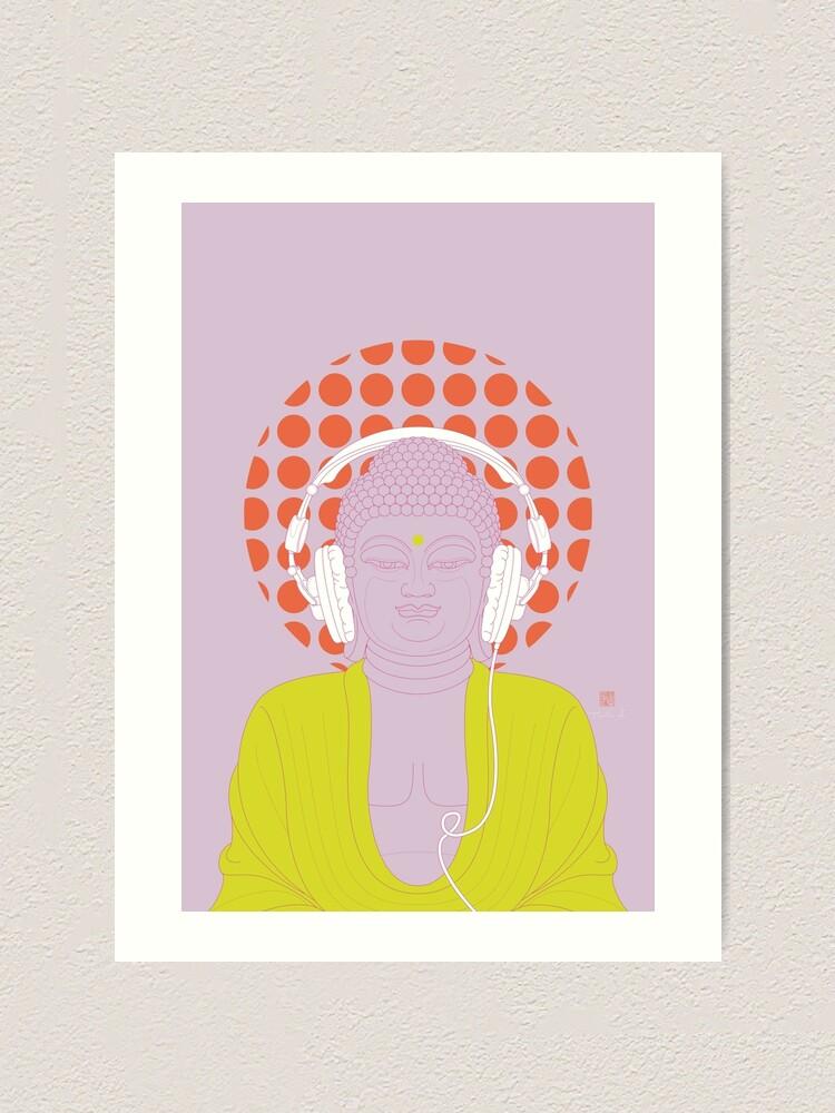 Alternate view of Buddha : Listen to Om! (PopArtVersion) Art Print