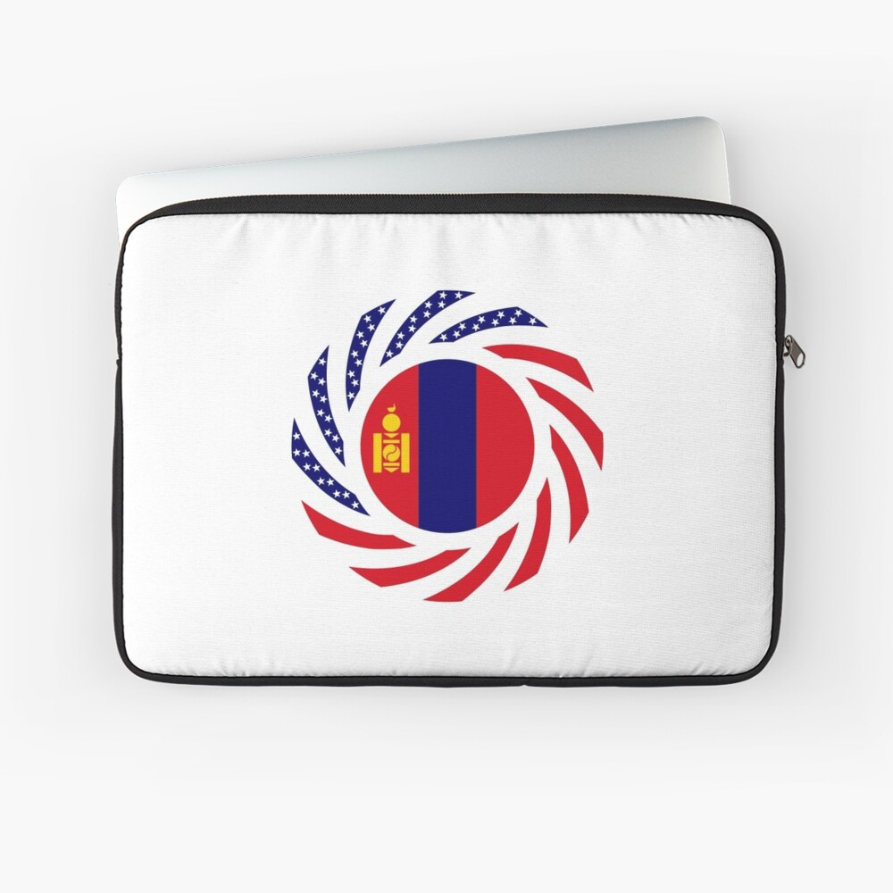 Mongolian American Multinational Patriot Flag Series Laptop Sleeve