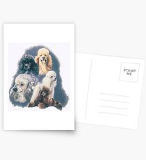 Poodle w/Ghost Image Postcards