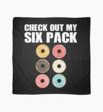 Check Out My 6-Pack Shirt Funny Love Donuts Gear Scarf