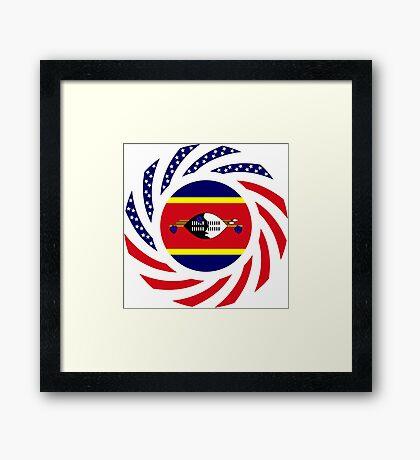 Swazi American Multinational Patriot Flag Series Framed Print