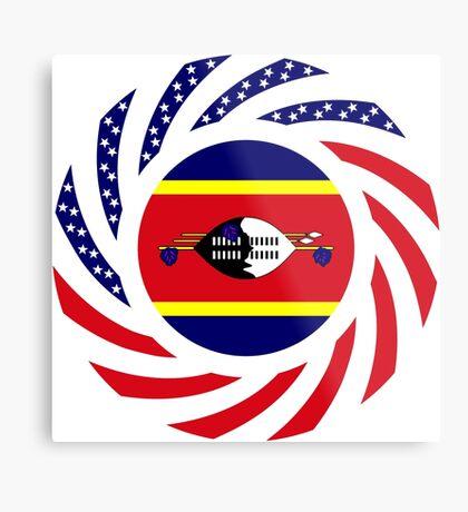 Swazi American Multinational Patriot Flag Series Metal Print