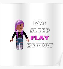 Roblox - Eat Sleep Play Repeat Poster