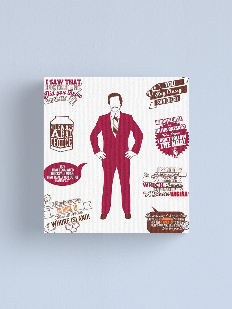 That Escalated Quickly Ladies T Shirt Funny Anchorman Quote Burgundy Slogan