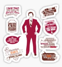 Anchorman Quotes - Funny T-Shirt - Movies - Films - Ron Burgundy Sticker