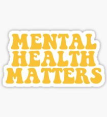 Geistige Gesundheit Angelegenheiten - Gelb Sticker