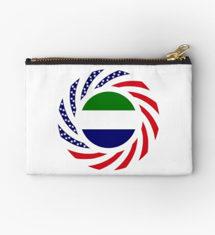 Sierra Leonean American Multinational Patriot Flag Series Zipper Pouch