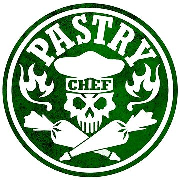 Pastry Chef Skull Logo Green by sdesiata