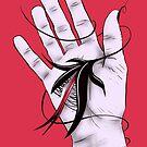 Disturbing Itch - Hand Biting Flower Monster by Boriana Giormova