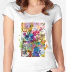 Street Art Attack Women's Fitted Scoop T-Shirt