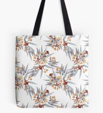 Gumnuts and Eucalyptus in Rust, Grey and Golden Tote Bag
