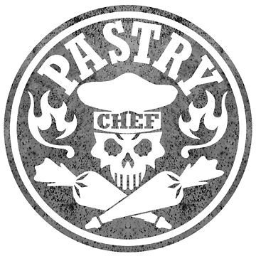 Pastry Chef Skull Logo Gray by sdesiata