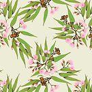 Eucalyptus Pop Pink Green by ThistleandFox