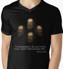 "Galileo ""Thunderbolt & Lightning, very,very, frightning me"" Men's V-Neck T-Shirt"