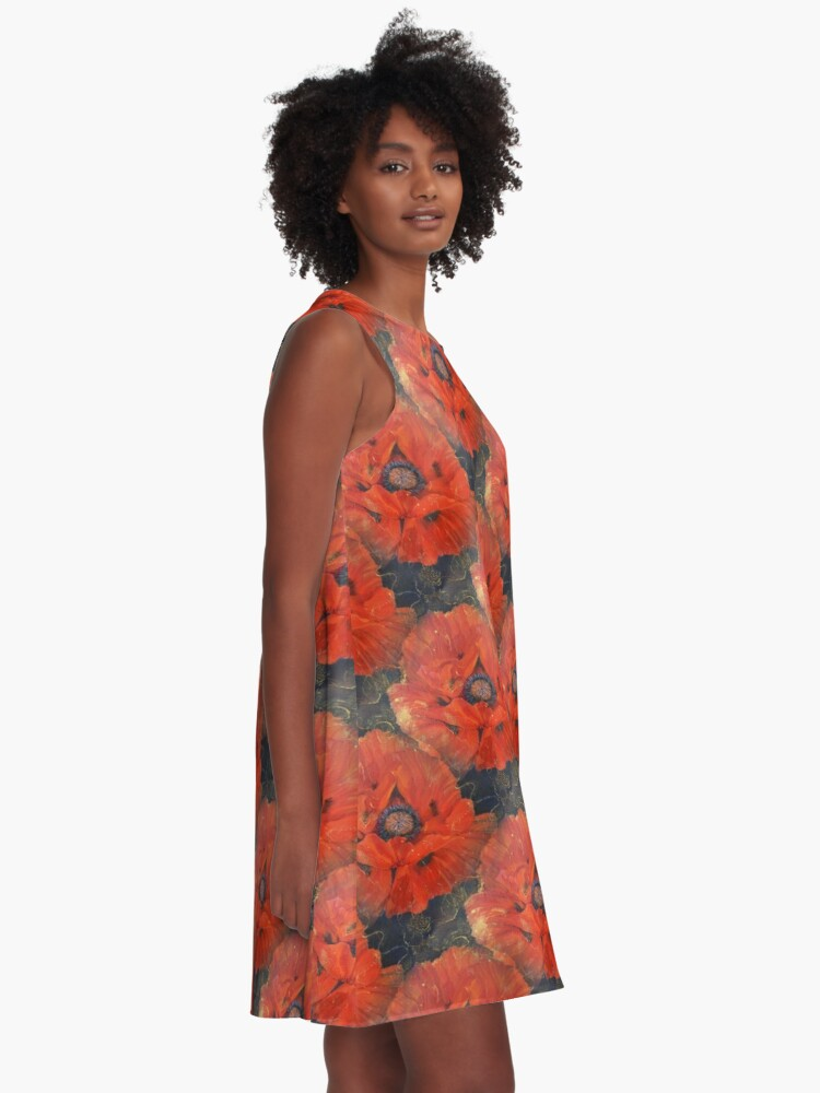 Alternate view of POPPIES A-Line Dress