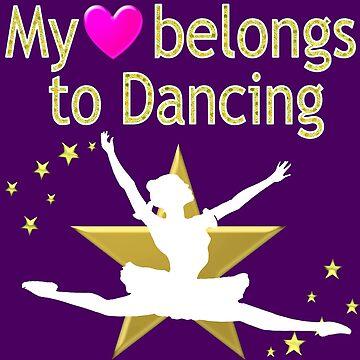 PRETTY PURPLE MY HEART BELONGS TO DANCING DESIGN by JLPOriginals