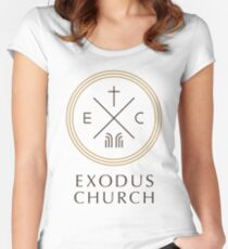 Exodus Seal - dark letters Women's Fitted Scoop T-Shirt