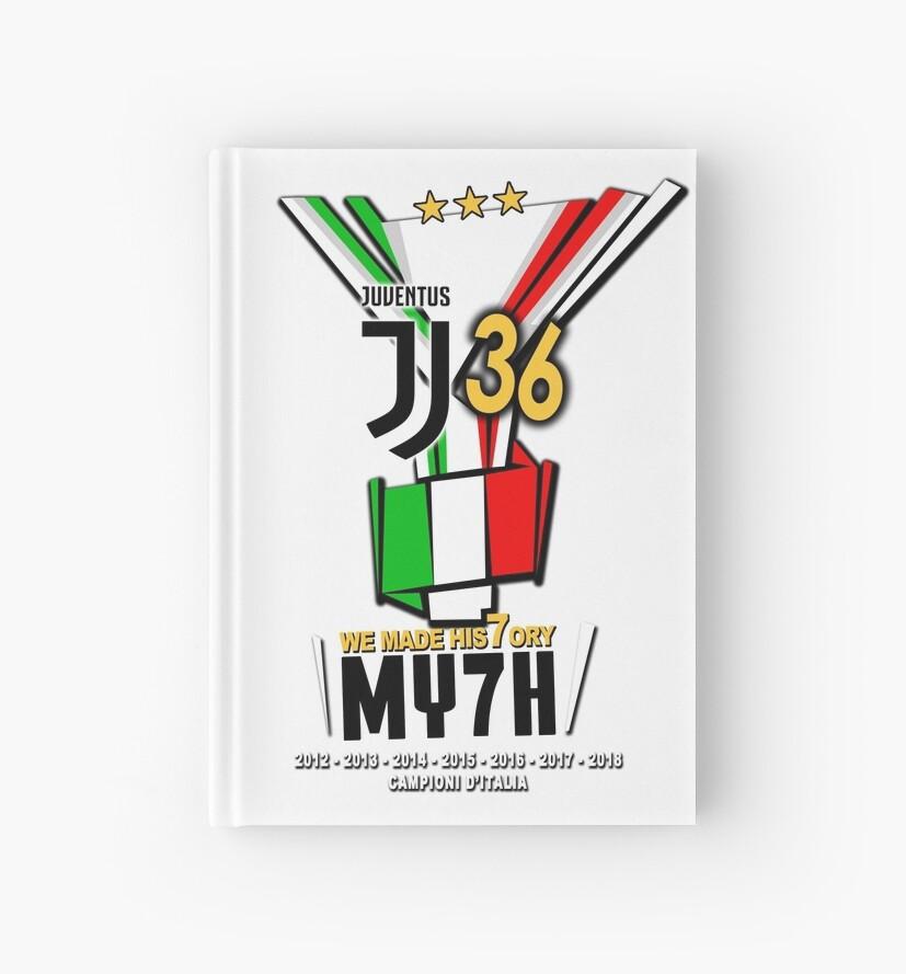 Juventus Campioni Ditalia 2018 My7h 36 Scudetto Juve Hardcover