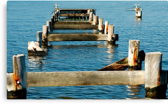 Morisset Hospital Wharf ... Or What's Left Of It! by Bev Woodman