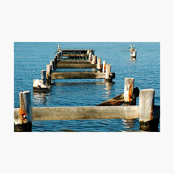 Morisset Hospital Wharf ... Or What's Left Of It! Photographic Print