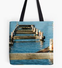 Morisset Hospital Wharf ... Or What's Left Of It! Tote Bag