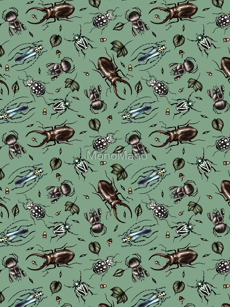 Colored beetle pattern - Insect collection by MonoMano