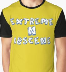 Extreme N Obscene Blue Graphic T-Shirt