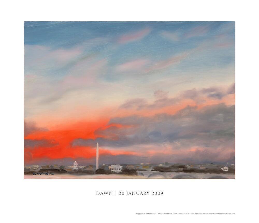 "Inauguration Poster: ""Dawn – 20 January 2009"" by William Van Doren"