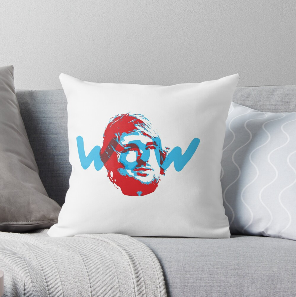 Owen Wilson Says Wow - Red Throw Pillow