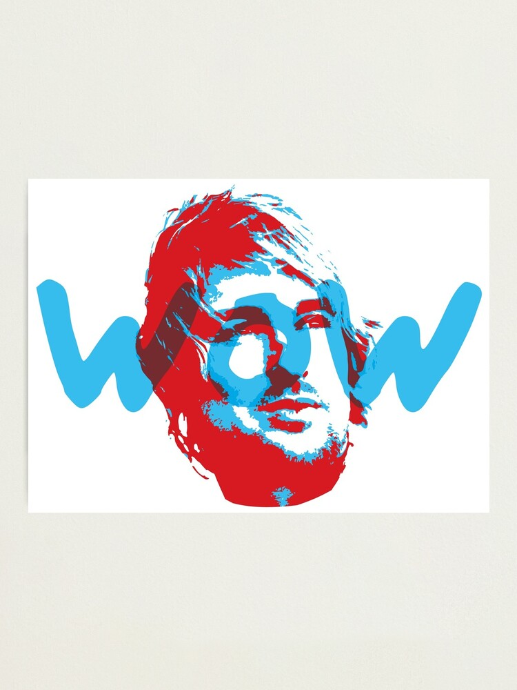 Alternate view of Owen Wilson Says Wow - Red Photographic Print