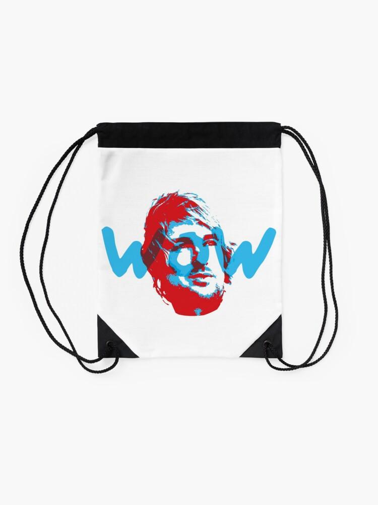 Alternate view of Owen Wilson Says Wow - Red Drawstring Bag